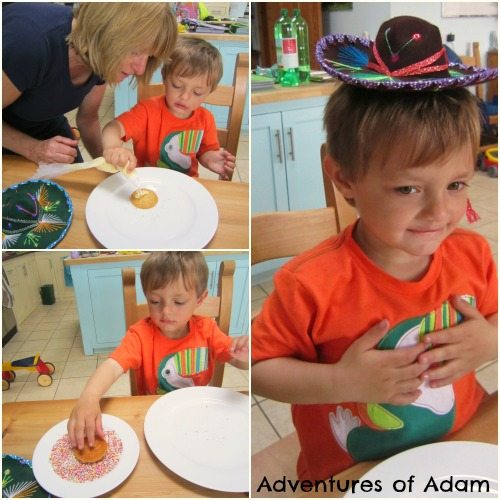Adventures of Adam Toddler made Mexican sombreros
