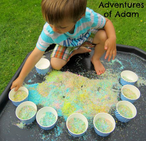 Adventures of Adam Coconut sensory play