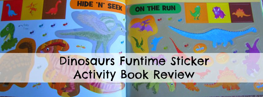 Adventures of Adam Dinosaurs Funtime Sticker Activity Book Review