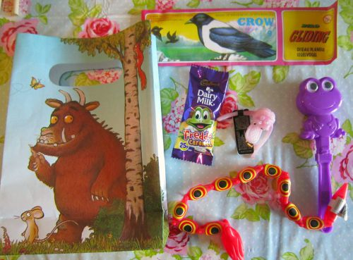 Adventures of Adam Gruffalo party bags