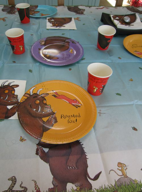 Adventures of Adam Gruffalo party table & Gruffalo Party Pack Review