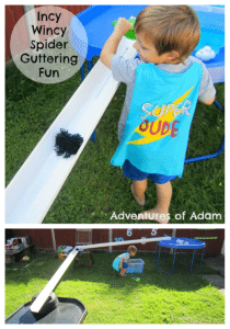 Adventures of Adam Incy Wincy Spider Guttering play