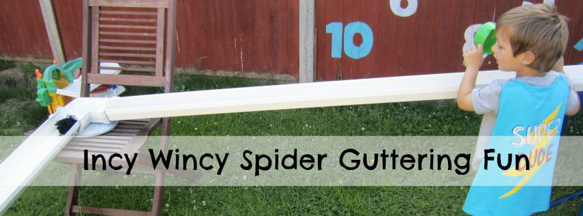 Incy Wincy Spider toddler play activity