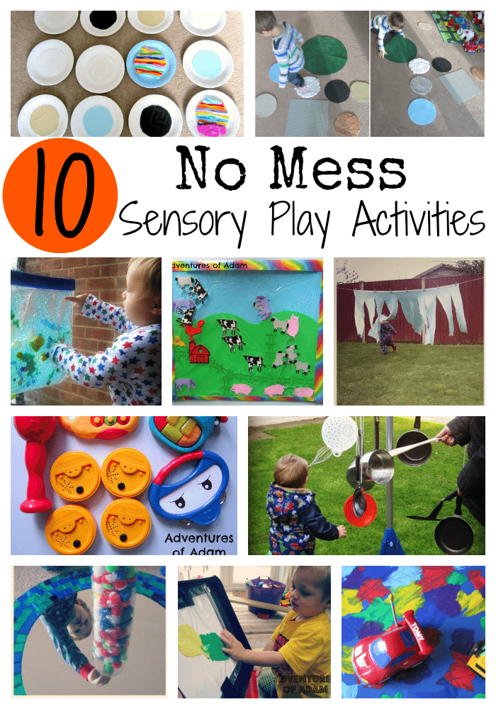 No Mess Sensory Play Activities Adventures of Adam
