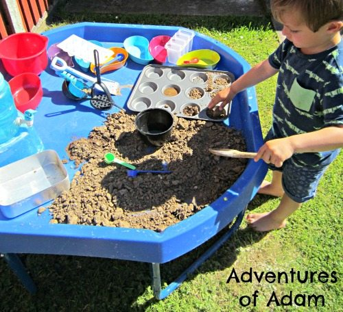Adventures of Adam Toddler mud play