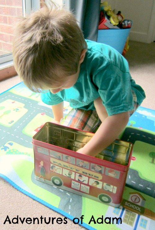 Adventures of Adam Wheels on the bus toddler play activity