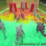 Adventures of Adam dinosaur sensory bin