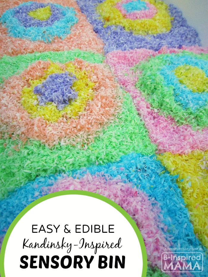 Adventures of Adam Edible Kandinsky Inspired Sensory Play