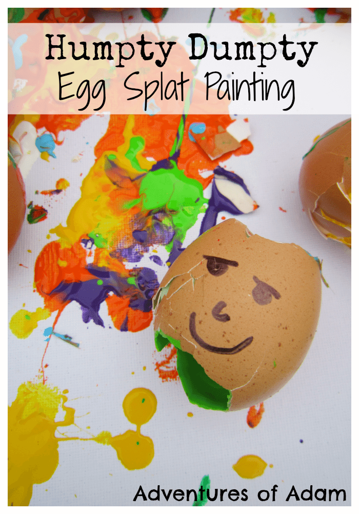 Adventures of Adam Humpty Dumpty Egg Splat Painting