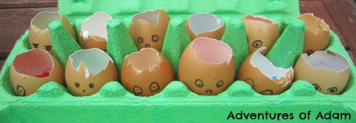 Adventures of Adam Humpty Dumpty eggs
