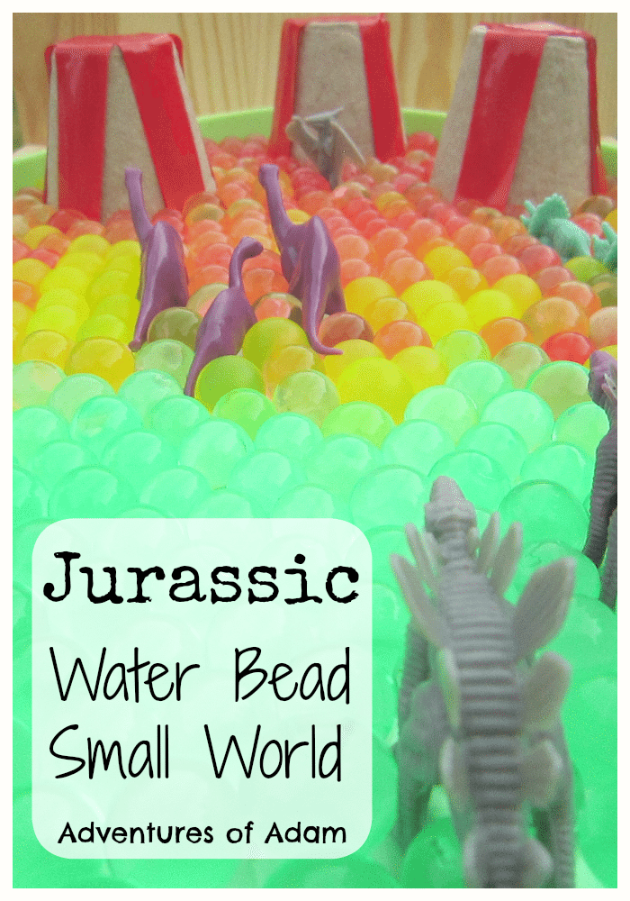 Adventures of Adam Jurassic Water Bead Small World
