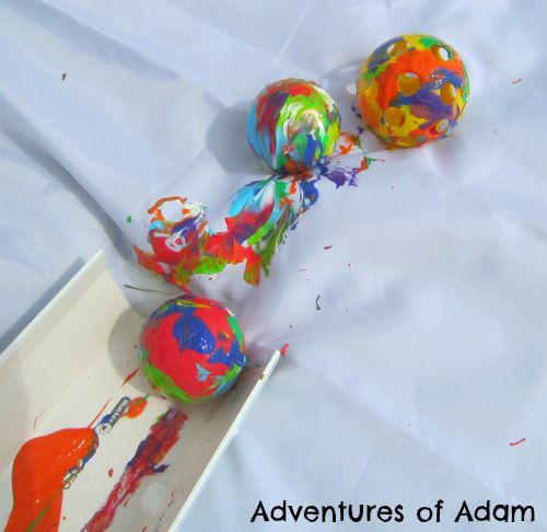 Adventures of Adam Painting with balls