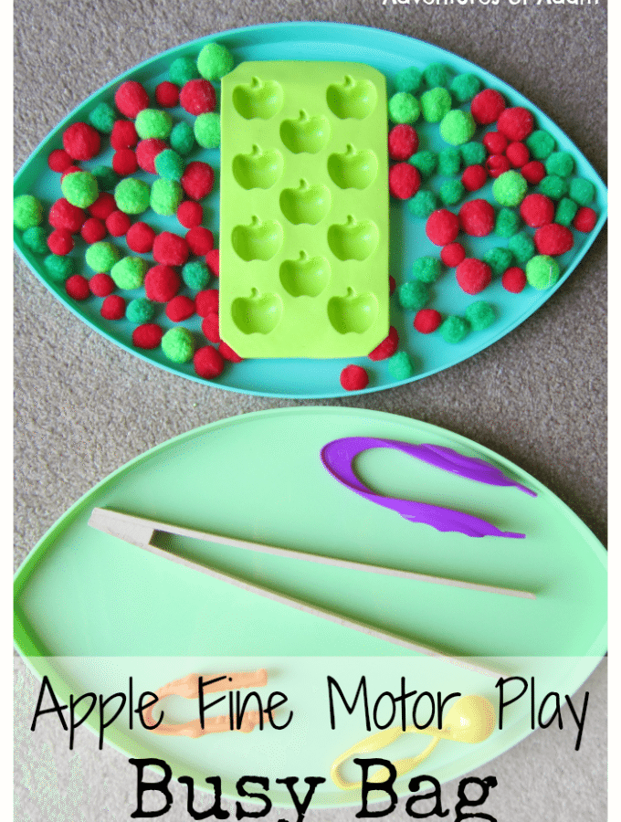 Apple Fine Motor Play Busy Bag