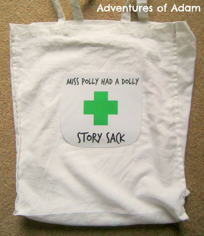 Adventures of Adam DIY Miss Polly had a dolly story sack