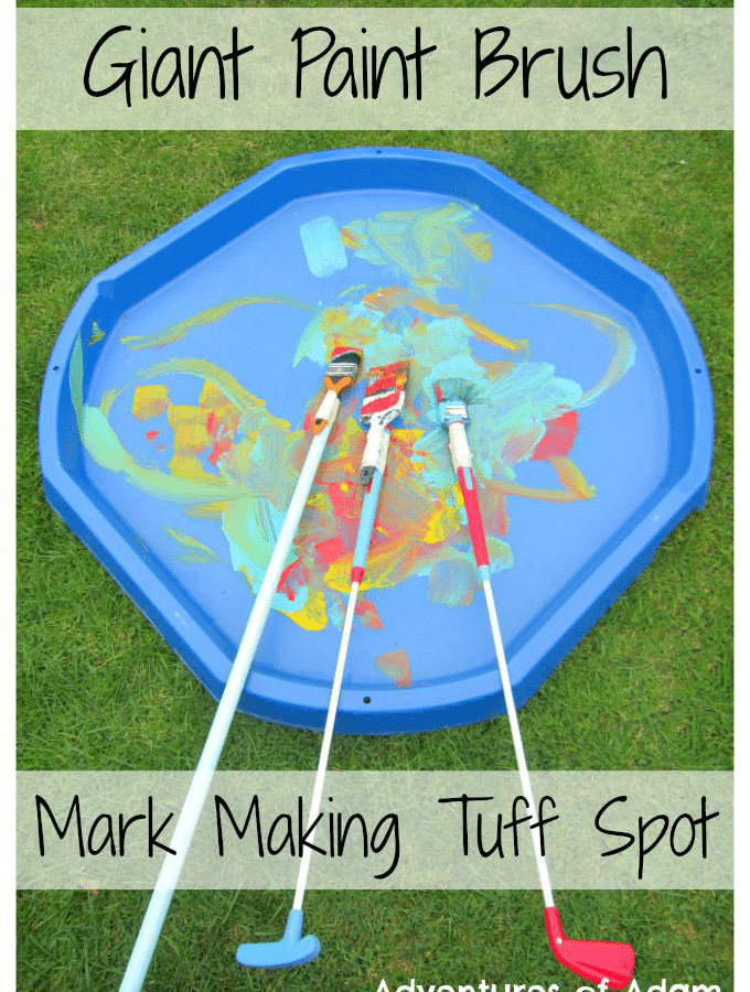 Giant Mark Making Tuff Spot