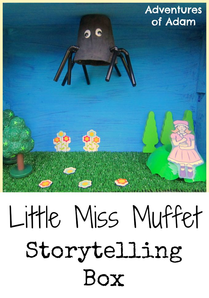 Little Miss Muffet Storytelling basket Adventures of Adam