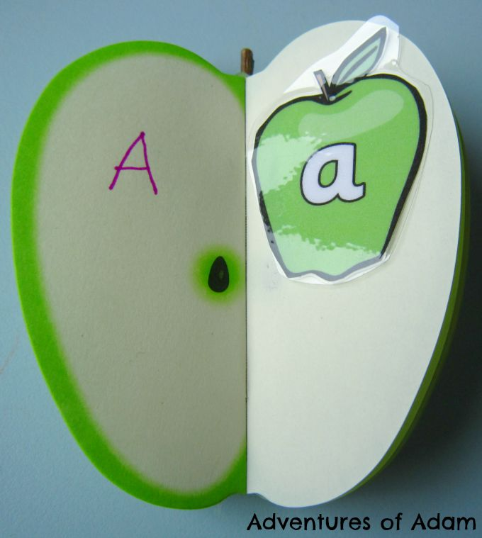 Adventures of Adam Matching uppercase and lowercase alphabet on apples