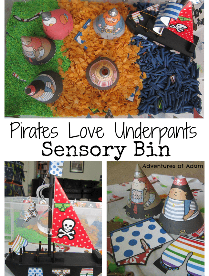 Pirates Love Underpants Sensory Bin