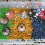 Adventures of Adam Pirates Love Underpants sensory bin