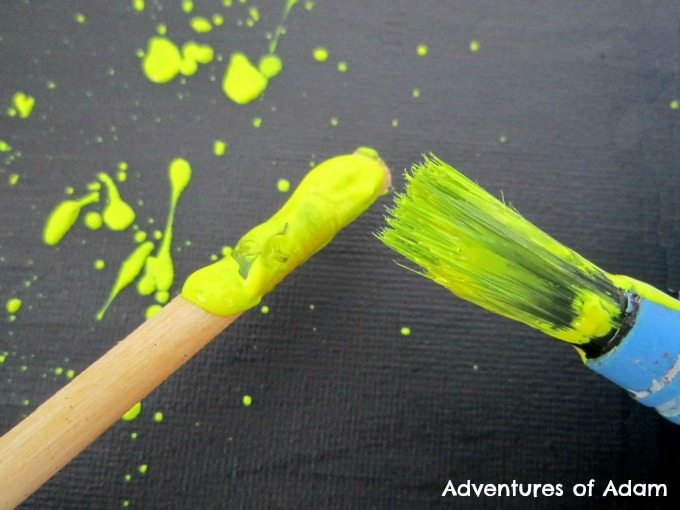 Adventures of Adam Splatter painting for child with Sensory Processing Disorder