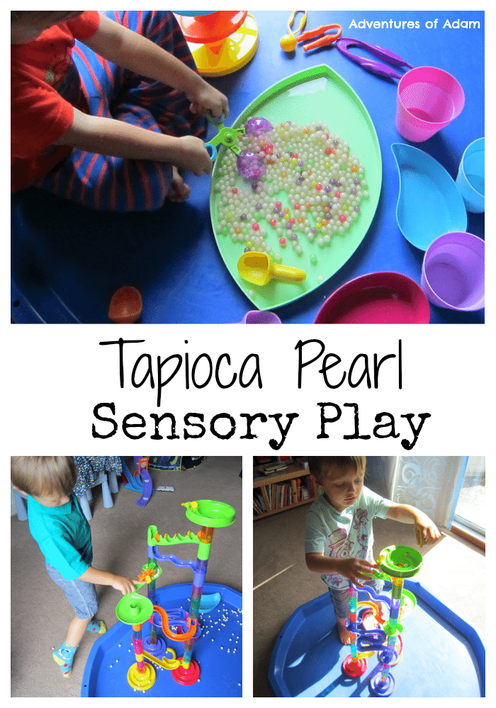 Adventures of Adam Tapioca Pearl Sensory Play