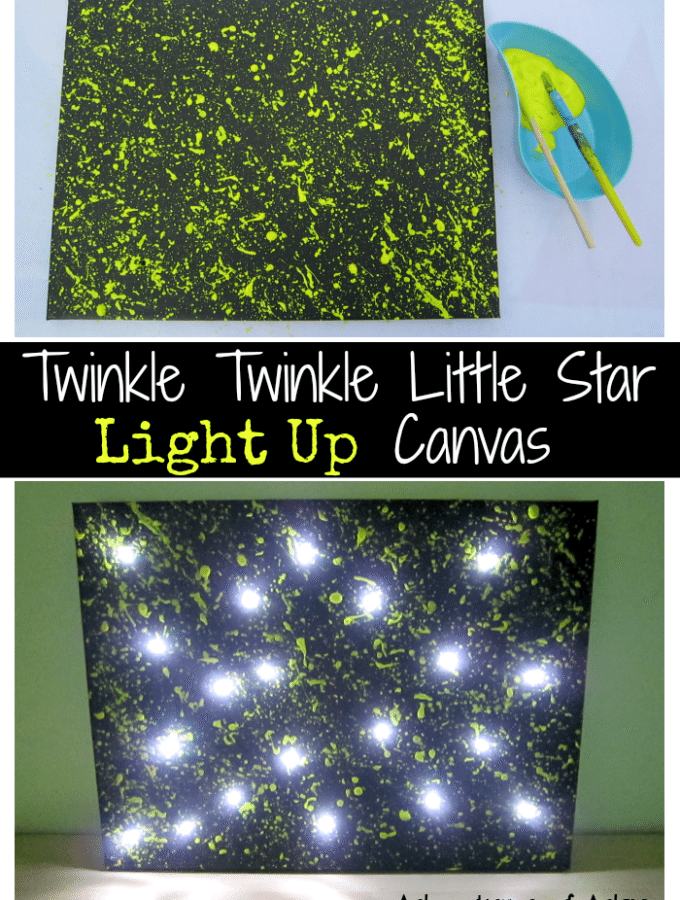 DIY Twinkle Twinkle Little Star Canvas