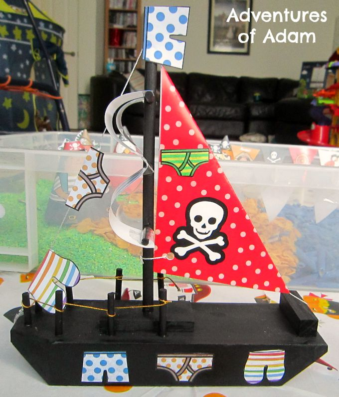 Adventures of Adam Underpants pirate ship
