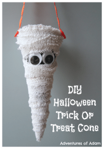 Adventures of Adam DIY Halloween Trick Or Treat Cone