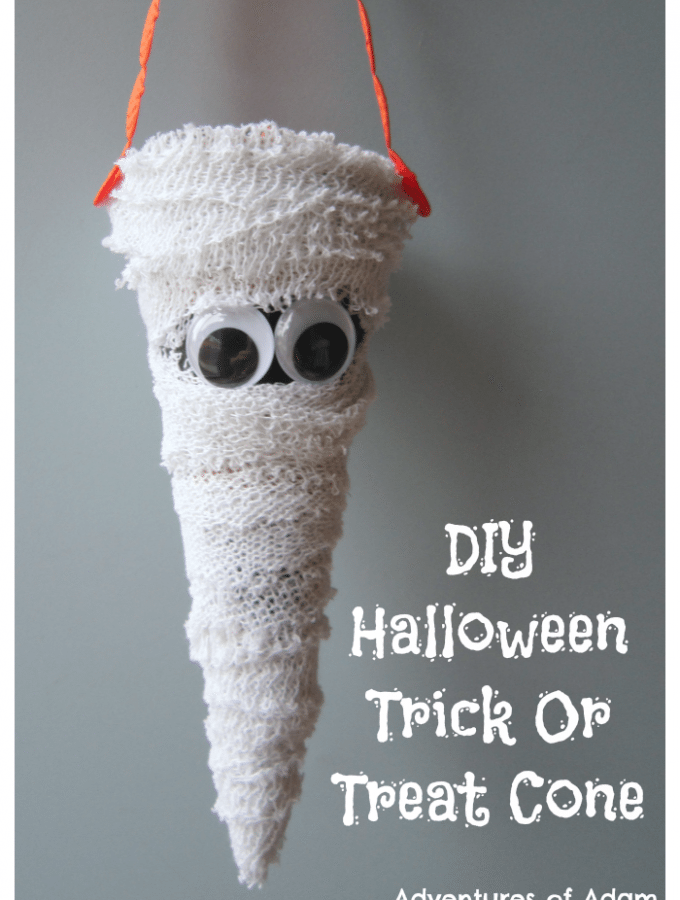 DIY Halloween Trick Or Treat Cone