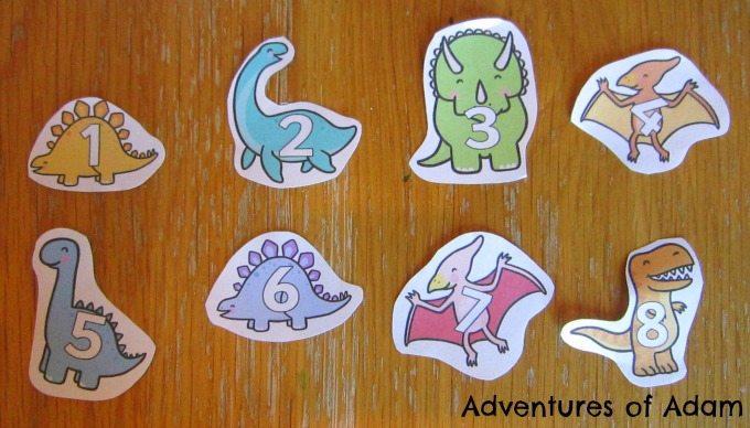 Adventures of Adam Dinosaur numbers