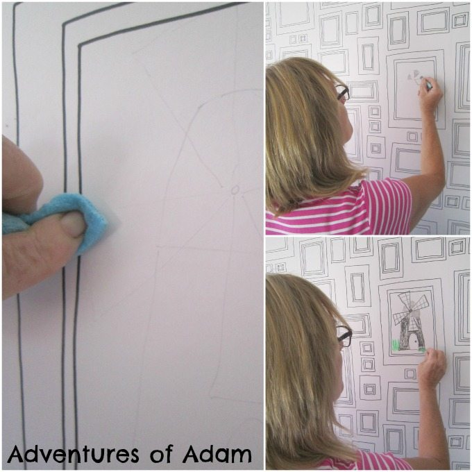 Drawing on the Frame wallpaper