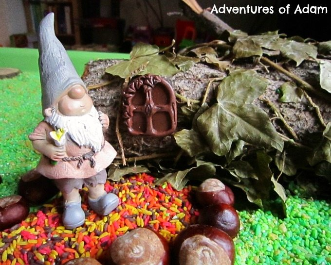Adventures of Adam Gnome and fairy house small world