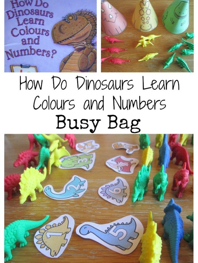 Dinosaur Colours and Numbers Busy Bag