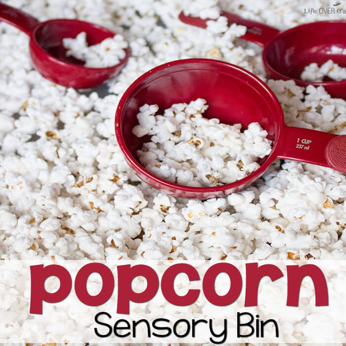 Life Over Cs Popcorn Sensory Bin