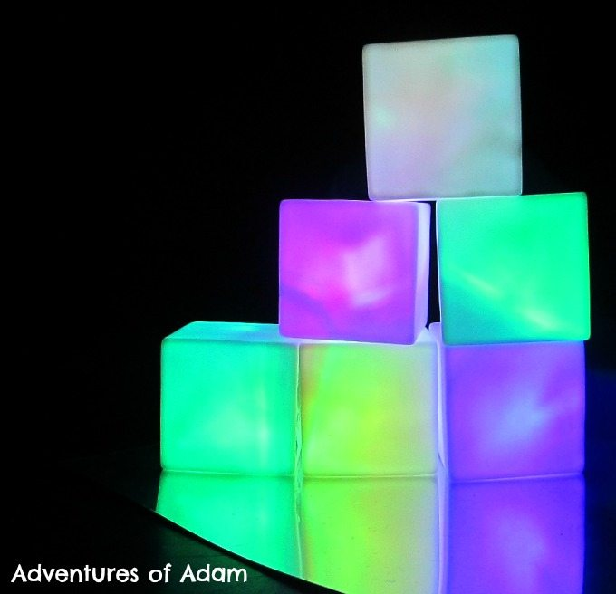 Adventures of Adam Light cube sensory play