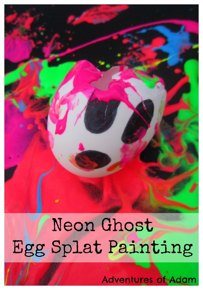 Adventures of Adam Neon Ghost Egg Splat Painting
