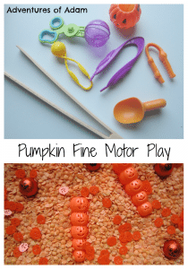 Adventures of Adam Pumpkin Fine Motor Play