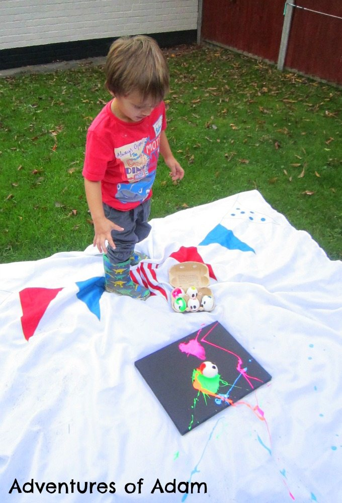 Adventures of Adam Toddler splat painting