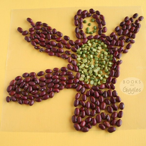 bean monkey kids craft