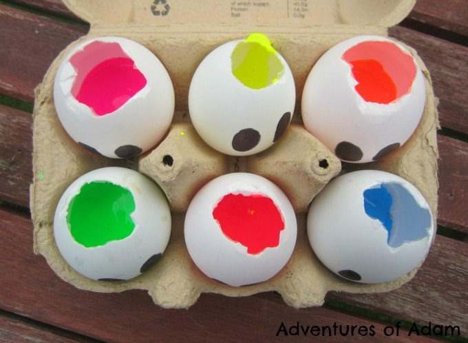 Adventures of Adam duck eggs filled with paint