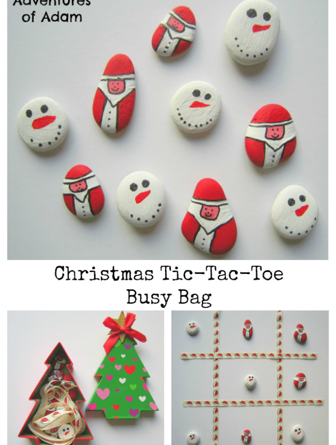 Christmas Tic-Tac-Toe Busy Bag