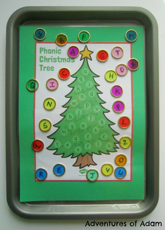 Christmas tree alphabet match