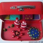 Elf small world in a suitcase