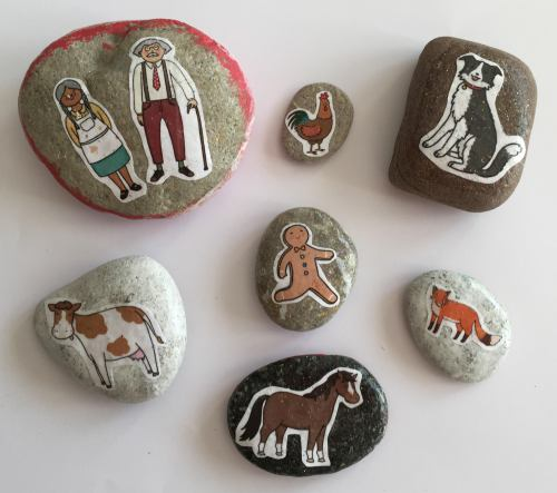 Gingerbread man story stones