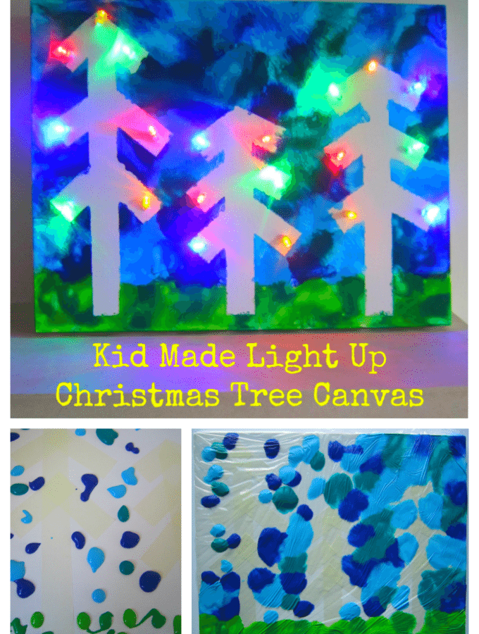 Light Up Christmas Tree Canvas
