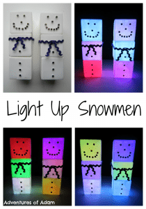 Adventures of Adam Light Up Snowmen