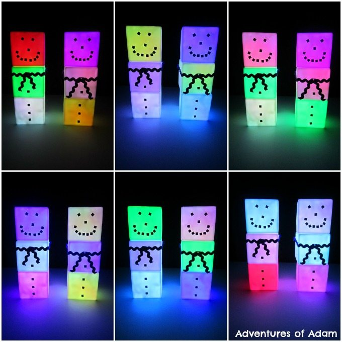 Adventures of Adam Light up snowmen craft