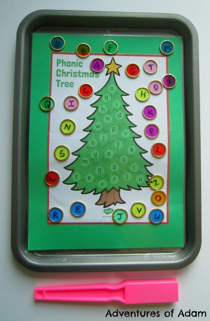 Magnetic Christmas Tree upper and lowercase letter match