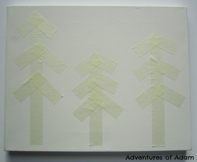 Adventures of Adam Masking tape canvas