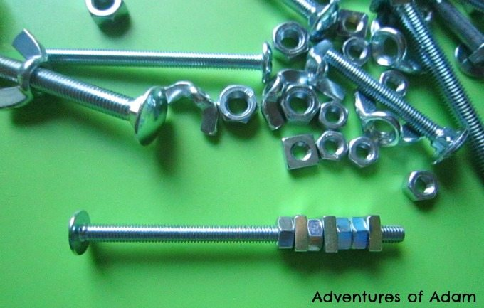 Nuts and bolts toddler play